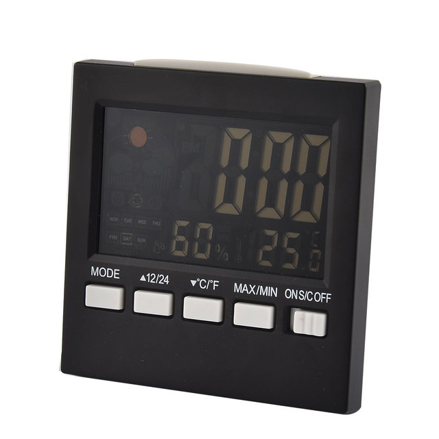 UXCELL Electronic Lcd Back Light Digital Alarm Snooze Temperature Humidity Meter Weather Station