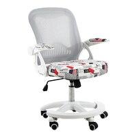 Дети бытовой поднял компьютерное кресло с подлокотниками студентов стул скользящими ткань сетки Эргономика отрегулировать дать стул