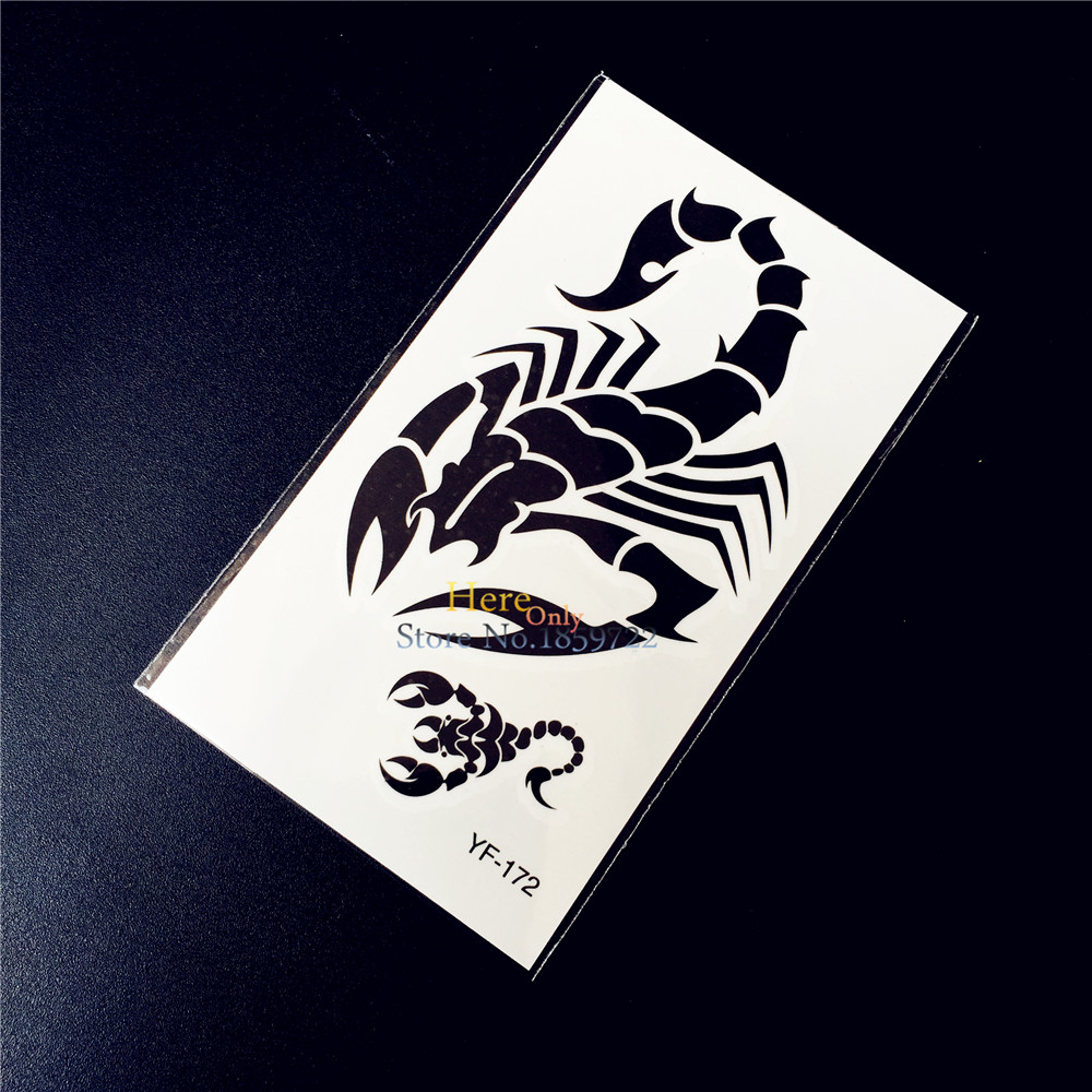 Scorpion King Waterproof Temporary Tattoo MEn Body Art Arm Tattoo Stickers HYF 172 Kids Fake Flash