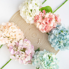 French Wedding DIY Artificial Hydrangea Silk Flower Living Room Dining Store Shop Luxury Home Decor Fake Flowers or Ikebana