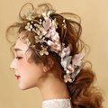 Greek style Small broken flower bridal hair accessories vintage wedding pearl hairpins fashion bride headdress headband