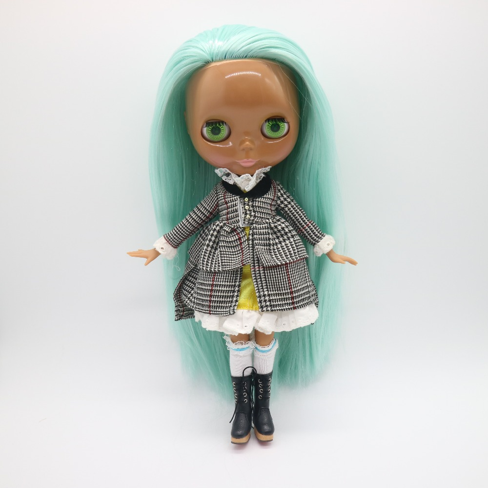 2017 joint body Nude blyth Doll,Mixed long hair black skin