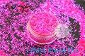 TCR349 Americano Fantasía Rosa Iridiscente Púrpura polvo del brillo Ronda Dot Forma para uñas de Arte u otros DIY decoración