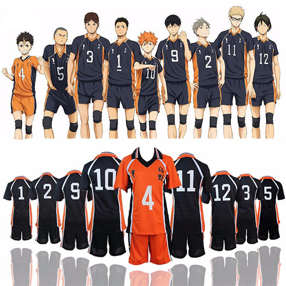 Anime Haikyuu Cosplay Karasuno High School Volleyball Club Hinata Shyouyou Jerseys T-Shirt Sportswear Cosplay Uniform