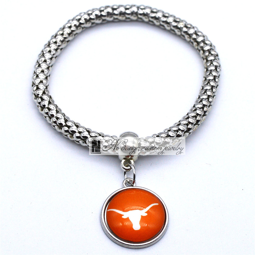 2018 Trendy Jewelry Sport Bracelet NCAA Texas <font><b>Longhorns</b></font> <font><b>Charms</b></font> Bracelet&Bangle Women Men Fashion Accessories image