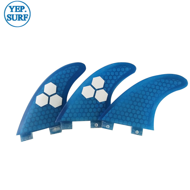 Barbatanas quilhas de Surf FCS G5 Fibreglass Honeycomb Fins SUP Board Fin Tri Set Carbon fiber Surfing Fins in Surfing from Sports Entertainment