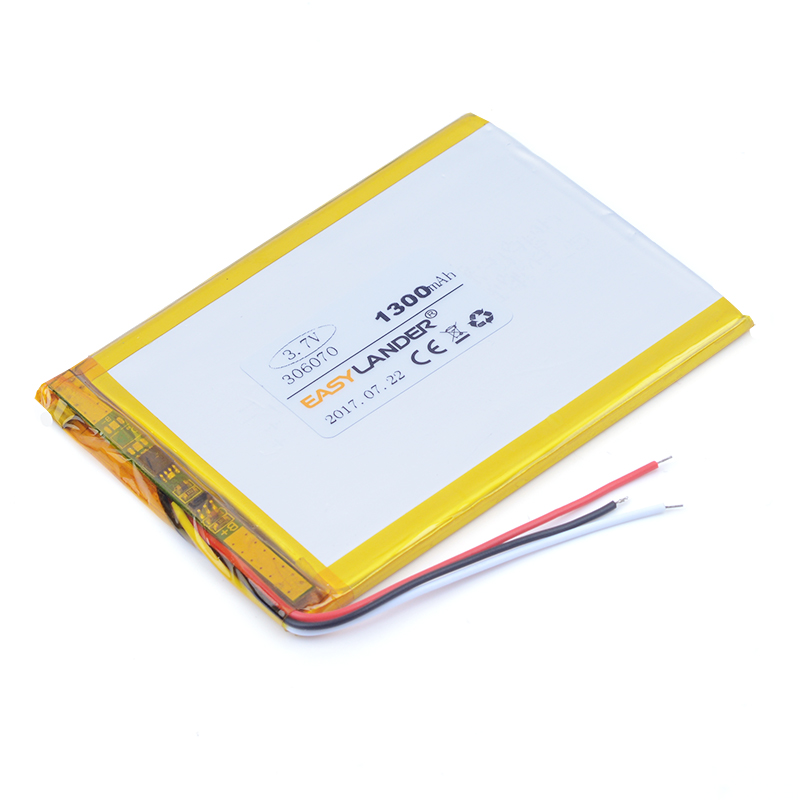 306070 3.7V 1300mAh Rechargeable Li-Polymer Battery For Innos Yi Luo D6000 i6 i6c machine built-in battery MP4 MP5 E-BOOK DVR image