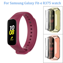 For Samsung Galaxy Fit-e R375 silicone watchband Replacement watch Strap TPU Full Protector Cases bracelet
