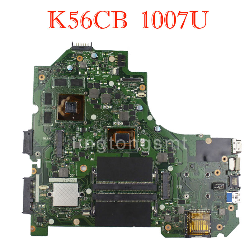 K56CB Laptop Motherboard K56CB with 1007U GT740 2GB RAM mainboard 100% Tested&Free Shipping ux32a laptop motherboard ux32vd mainboard i3cpu integarted 2gb ram 100% tested free shipping