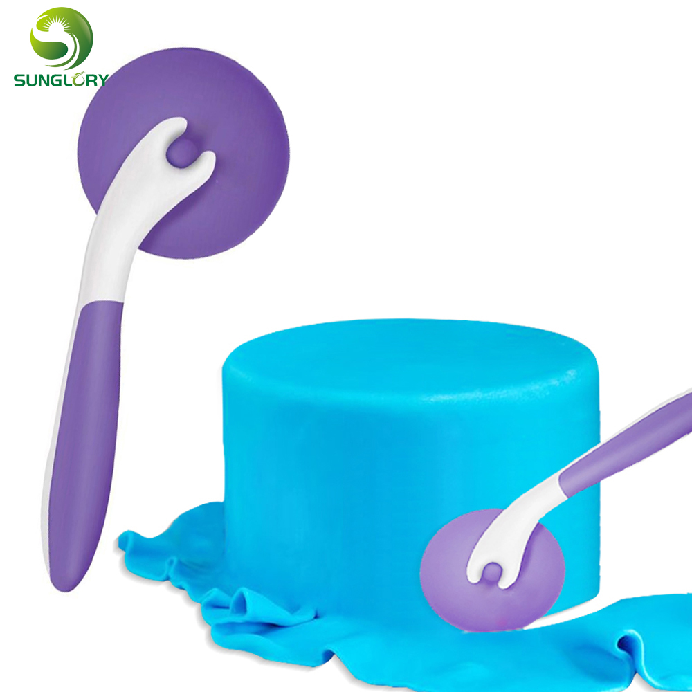 cake tool manufacturer 1pc 100% foodgrade plastic fondant trimmer decorating cutter free shipping