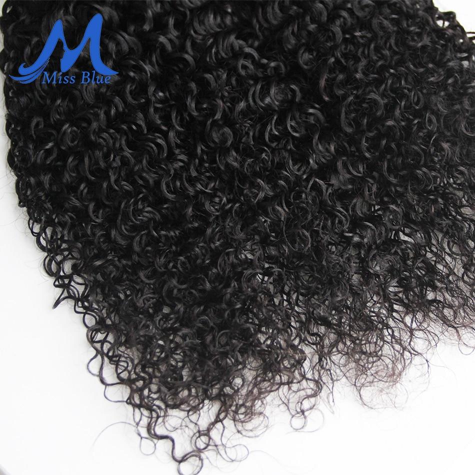 Missblue Kinky Curly Hair Bundles Brazilian Hair Weave Bundles 100% Remy Human Hair Extensions 3 4 Bundles Lots Natural Color 6