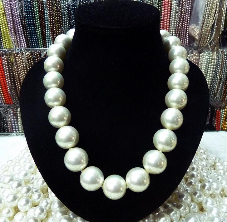 New Charming 14mm White Shell Pearl Necklace AAA 100% Hand knotted 35 image