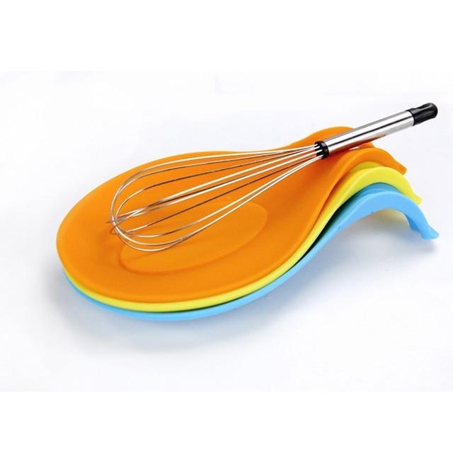 Kitchen Accessories Gadgets Silicone Multipurpose Spoon Rest Mat Holder for Tableware Kitchen Utensil Kitchen Gadgets Supplies 2