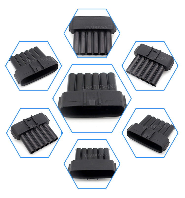 7283 1968 30 6 pin male accelerator pedal plug connectors
