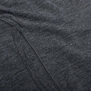 Image 4 - 男性ピュア 100% メリノウール冬長袖熱暖かいセーター下着厚いカーディガンボトムパンツセット遠征