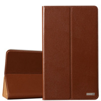 Top Quality Natural Genuine Leather Magnet Flip Stand Cover Case For Huawei MediaPad M3 Lite CPN