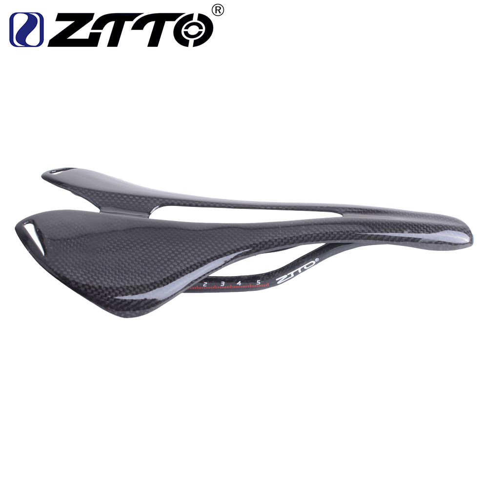 ZTTO 3K Full Carbon Fiber Bicycle Saddle Road/MTB Bike Carbon Seat Glossy все цены