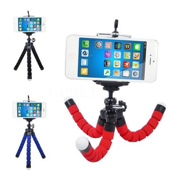 car style mobile phone holder flexible octopus tripod bracket selfie stand mount monopod support For iPhone XIAOMI camera image