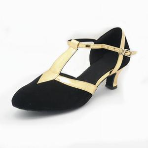Image 5 - ใหม่ผู้หญิงห้องบอลรูมปาร์ตี้เต้นรำละตินรองเท้าปิด Toe สีดำ Moderin รองเท้า Tango Salsa ประสิทธิภาพรองเท้าส้นสูง