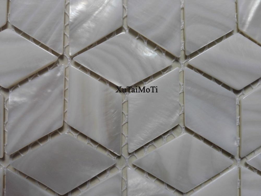 Pz rombo mattonelle di mosaico delle coperture bianco