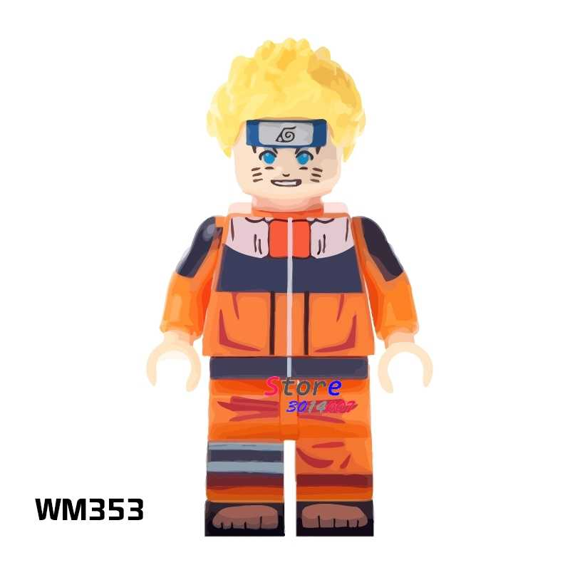 1PCS building blocks แอคชั่นฮีโร่ Uzumaki Naruto คอลเลกชันชุดตุ๊กตา diy ของเล่นสำหรับของขวัญเด็ก