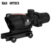 Weaver Base 20mm Tactical Optical Hunting Accessories 4x32 ACOG High Mount Red Dot Riflescope Sight