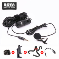 BOYA BY M1 Lavalier Microphone Omnidirectional Condenser Mic For IPhone Smartphone Canon Nikon DSLR Camera Interview