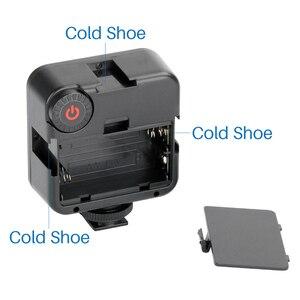 Image 3 - Ulanzi Panel de luz LED de alta potencia para teléfono inteligente Canon y Nikon, luz LED Ultra brillante para vídeo con 3 Zapata, regulable, portátil