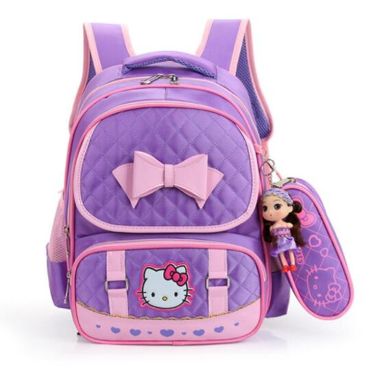 Hello Kitty Children School Bags For Girls Kids Schoolbag Cartoon Kids School Backpacks Mochila Infantil 4 colors