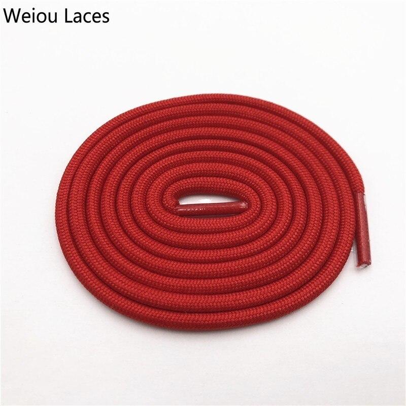 Weiou 0,5 см круглые спортивные шнурки из полиэстера толстые походные шнурки одежда веревка для скалолазания шнурки для ботинок Детские мужские - Цвет: 2703Red