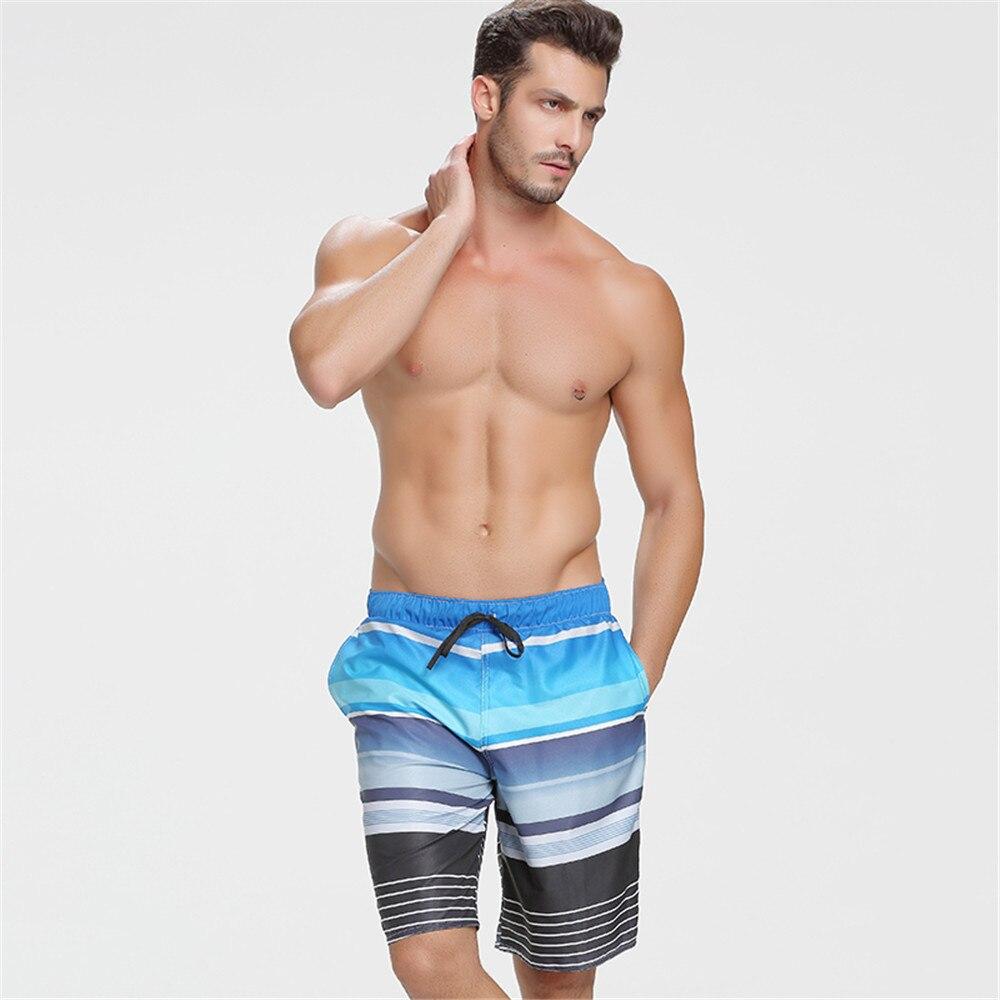 2017 SBART Men fast dry beach pants pants beach shorts boxer hot couple loose trunks big pants swimsuit male pants swimwear
