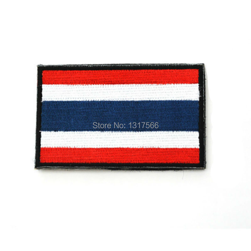 US $0 76 25% OFF|Embroidery Badge Thailand's National Flag Of Thailand  Military Embroidered Badges Tactical Patch For Outdoor Clothing Cap Bag-in
