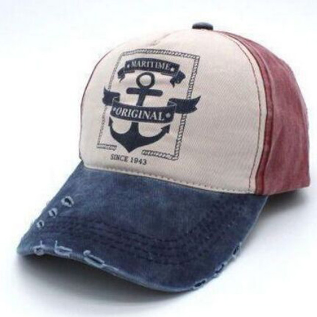 1 Pcs 2017 New Do Old Hole Baseball Caps Spring Autumn Pirates Hats For  Women And Men Cotton Adult Caps Snapback 5 Colors 8509 6d6a771a1615