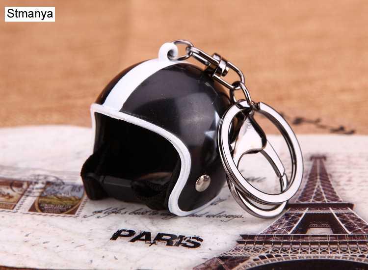 Nova motocicleta capacetes chaveiro feminino bonito capacete de segurança do carro chaveiro sacos anel chave quente presente jóias por atacado 17022