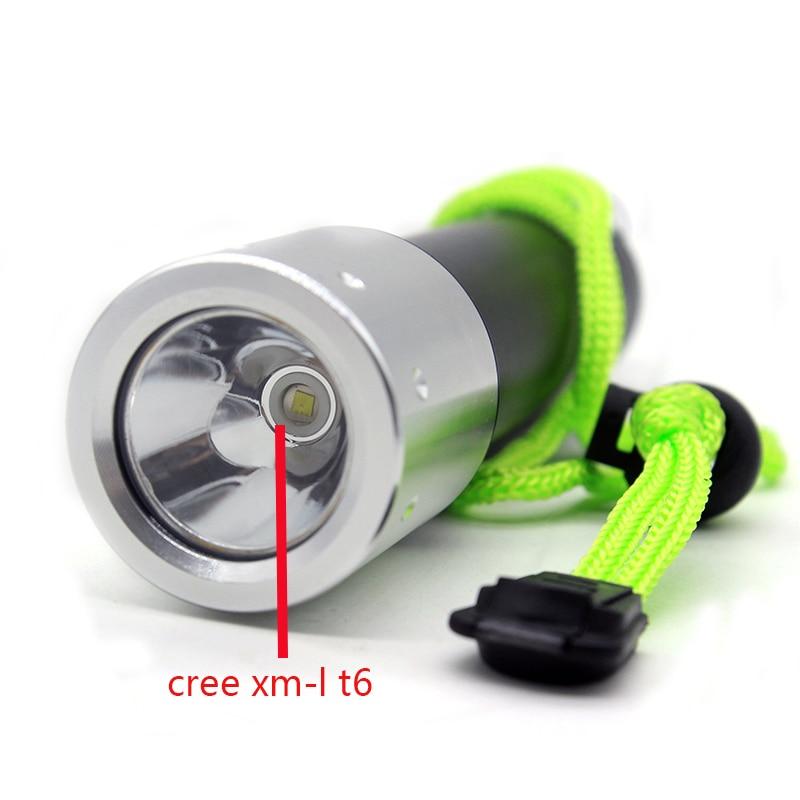 Cree xm-l T6 3800LM Led Diving Lantern Lampu Peralatan Diver untuk - Lampu mudah alih