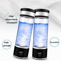 USB Recarregável Água Rico Em Hidrogênio Gerador de Energia do Hidrogênio de eletrólise-rico Antioxidante ORP H2 Garrafa Ionizador De Água