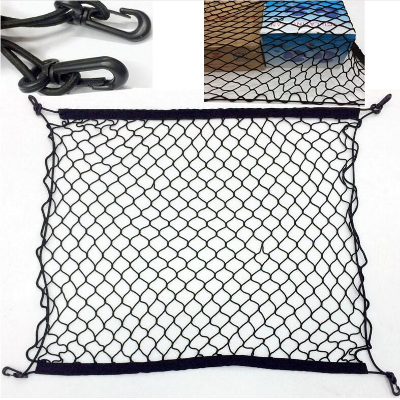 Car-styling Car Trunk Cargo Mesh Net 4 Hook Car Luggage FOR renault audi a3 passat b5 <font><b>chevrolet</b></font> cruze ford fiesta opel astra h image