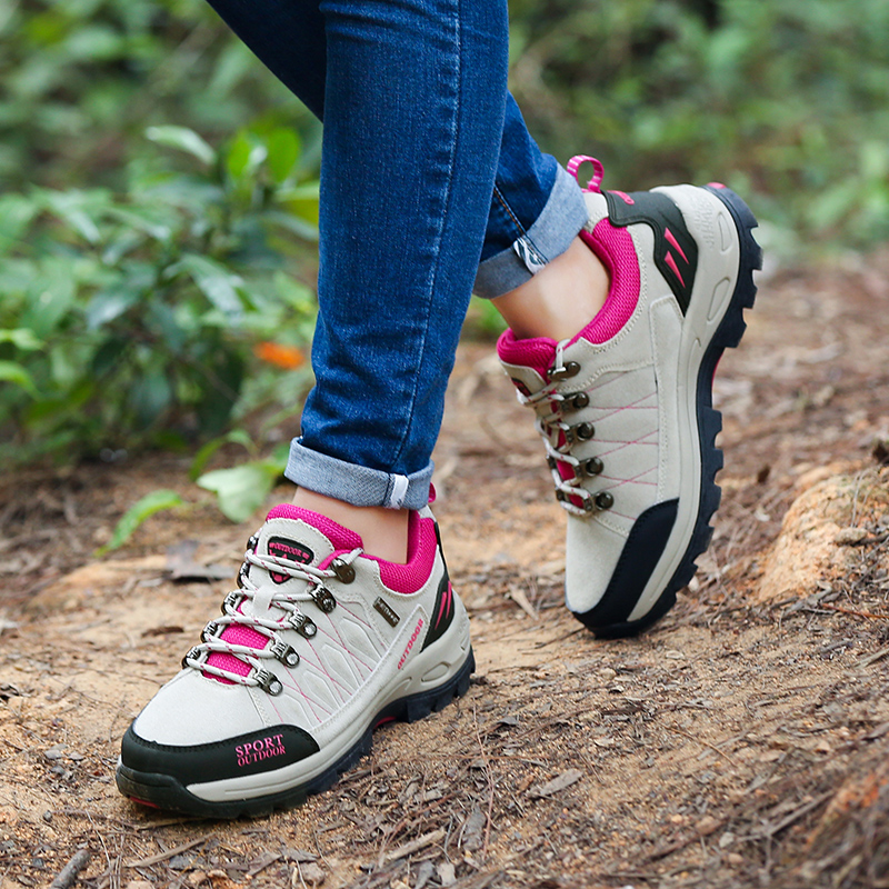 Women Hiking Shoes Professional Outdoor Camping Climbing Trekking Shoes Wear Resisting Tactical Shoes Lightweight Travel Sneaker