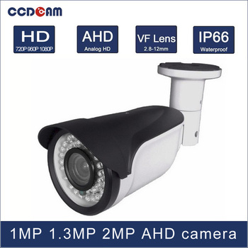 CCDCAM 1MP 1.3 MP 2MP high definition day and night vision AHD 2.8-12mm VF lens camera for CCTV system