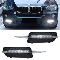2Pcs Complete Set 18W High Power LED Daytime Running Lights For 2007 10 BMW X5 E70