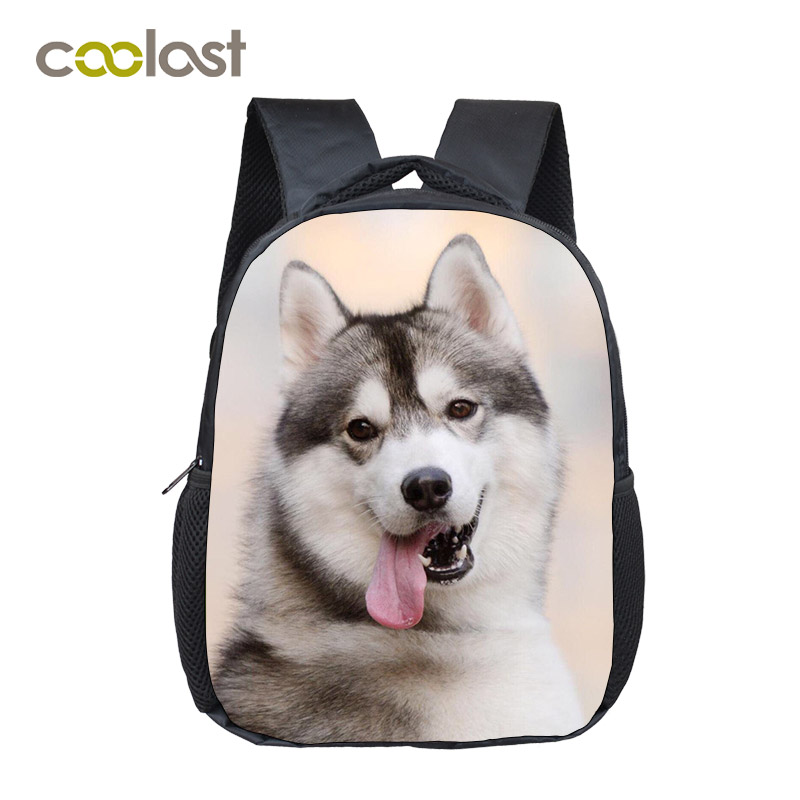 Lovely Tongue Out Husky Student Backpack Animal Print School Bag For Teenager Women Men Laptop Backpack Boys Girls Diaper Bag