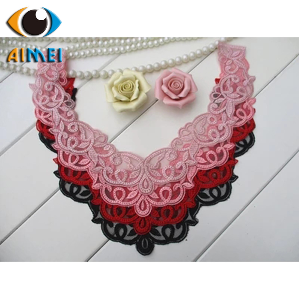 Spot direct fine yarn embroidery lace lace collar flowers cotton line DIY embroidery fake clothing accessories decoration