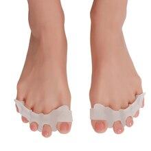 цена на 2pcs/set Gel Silicone Bunion Corrector Toe Separators Straightener Spreader Foot Care Tool Hallux Valgus Pro massager