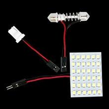 T10 W5W C5W C10W гирлянда(31 мм 36 мм 39 мм 42 мм) 2 адаптера 48 светодиодный Авто панельный светильник для чтения s Автомобильный Интерьер Карта купольный светильник 12V