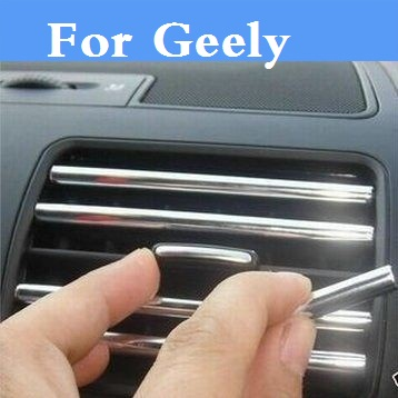 U Decoration strip Car air conditioning outlet blade styling For Geely Beauty Leopard CK (Otaka) Emgrand EC7 EC8 X7