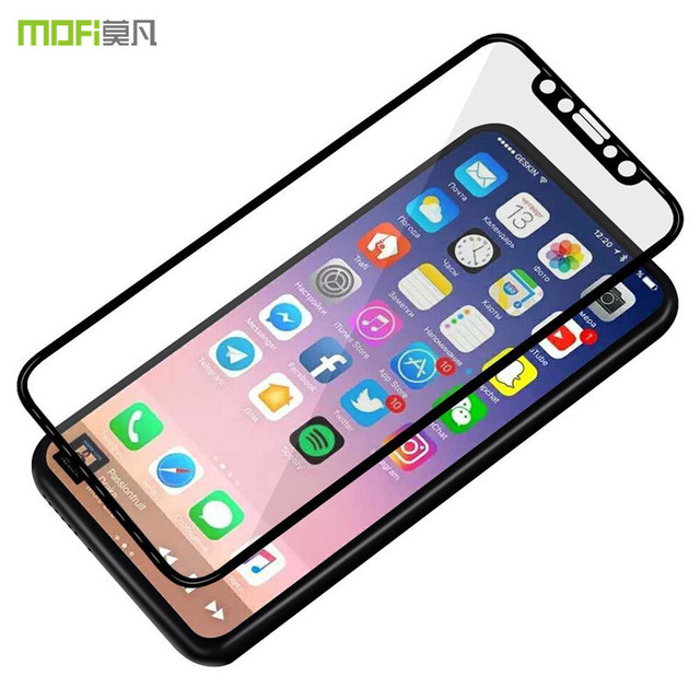 finest selection cb896 b4213 US $13.88  For iphone X glass for iphoneX tempered glass X screen protector  MOFi 3D full cover curved glass safety film display guard 5.8