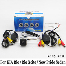 For KIA Rio / Rio Xcite / New Pride Sedan JB 2005~2011 / RCA AUX Wire Or Wireless / HD Night Vision Rear View Car Parking Camera