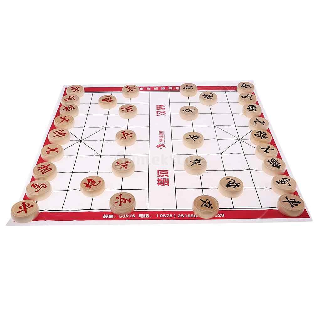 Kayu Catur Cina Set Catur Tradisional Perjalanan Permainan Papan Permainan Permainan Teka Teki Cina Keluarga Permainan Xiangqi Aliexpress