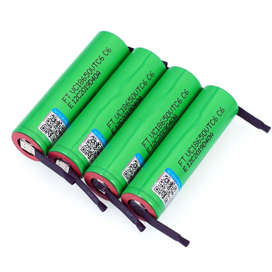VariCore VTC6 3.7 V 3000 mAh 18650 Li-ion batterie 30A décharge pour US18650VTC6 outils e-cigarette batteries + bricolage feuilles de Nickel