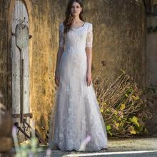 cecelle 2019 Vintage Boho Mermaid Wedding Dresses With